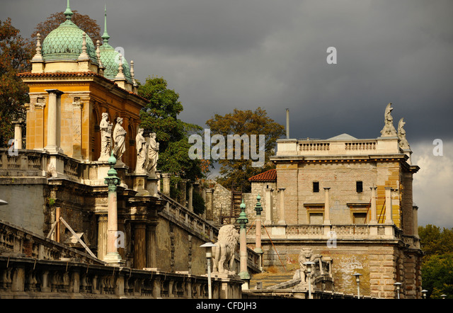 Decayed staircase to the Castle Hill, Budapest, Hungary, Europe - Stock Image