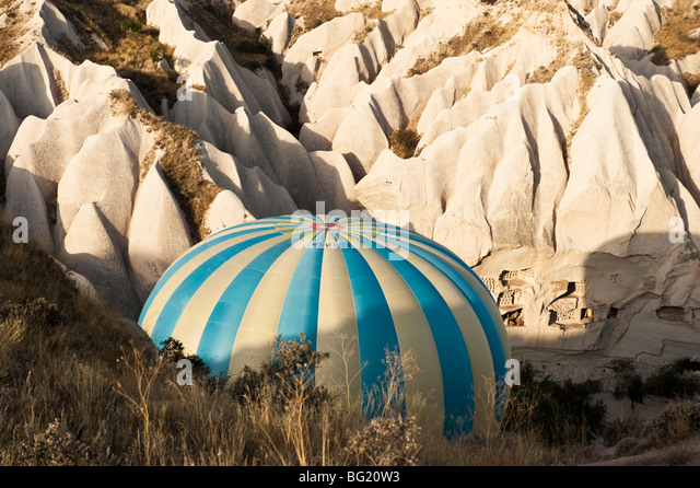 Hot air ballooning in Cappadocia, Nevsehir Province, Turkey with Kapadokya Balloons - Stock Image