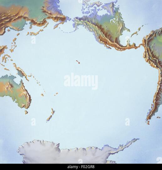 Tectonics movements, illustration - Stock Image