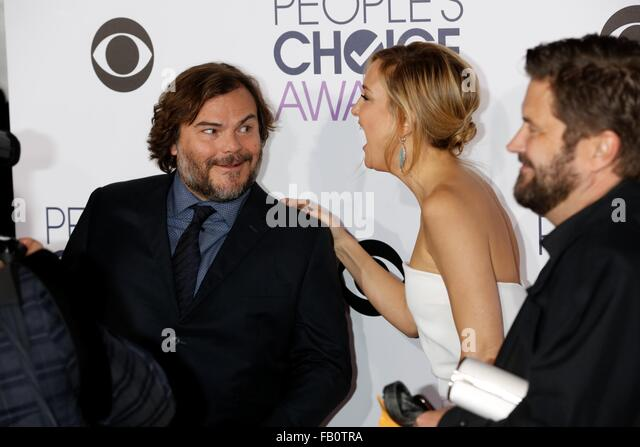 Los Angeles, USA. 7th January, 2016. Actors Jack Black and Kate Hudson attend the People's Choice Awards 2016 - Stock Image