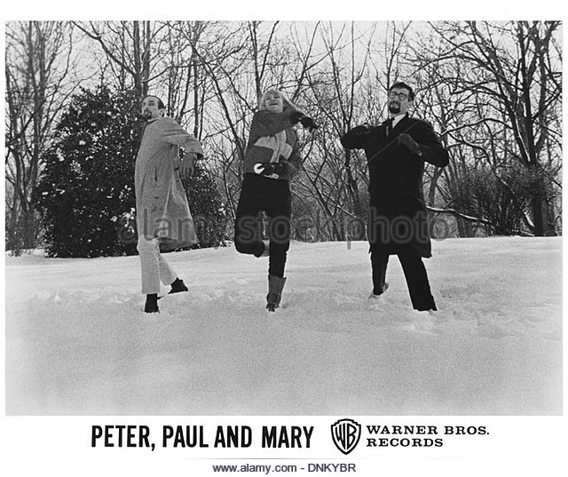PETER PAUL AND MARY - circa 1960s - photo courtesy Granamour Weems Collection.  Editorial use only. - Stock Image
