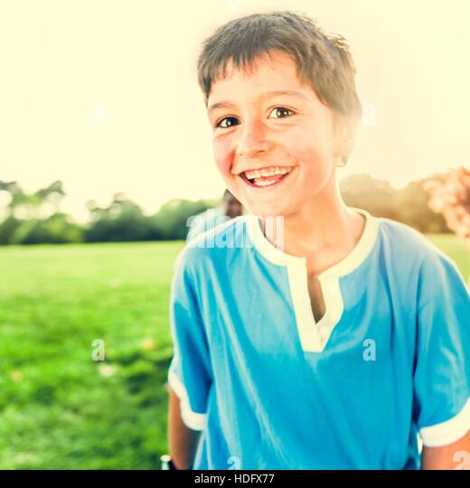 Activity Playing Recreation Funny Child Park Concept - Stock Image