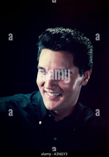 ELVIS PRESLEY US singer - Stock Image