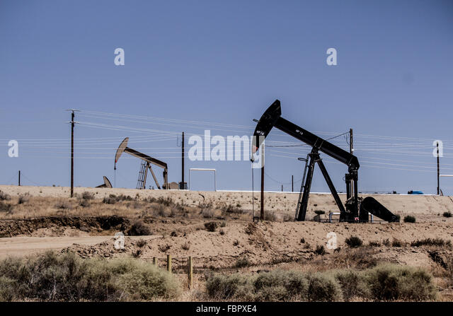 Oil Well Pumps Drills - Stock Image