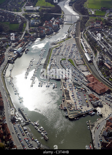 Whitby Marina, North Yorkshire East Coast, Northern England - Stock Image