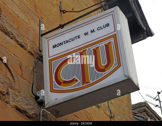 Montacute Working Mens Club,South Somerset,England,UK - Stock Image