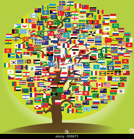 peace tree symbol of the frienship between nations - Stock-Bilder