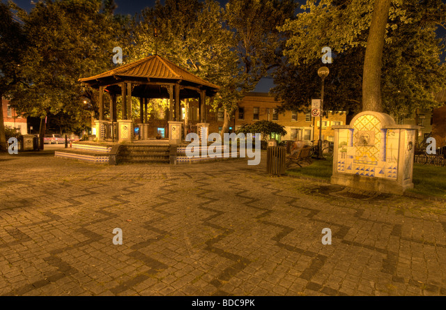 Portugal park located on boulevard St Laurent Montreal - Stock Image