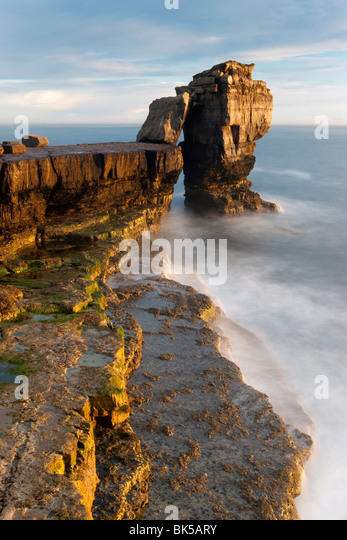 Pulpit Rock, Portland Bill, Isle of Portland, Dorset, England, United Kingdom, Europe - Stock Image