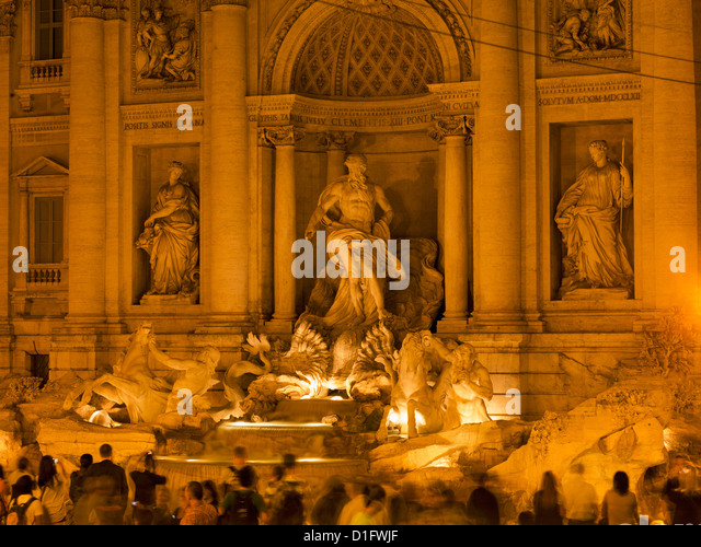 Trevi fountain, Rome, Lazio, Italy, Europe - Stock Image