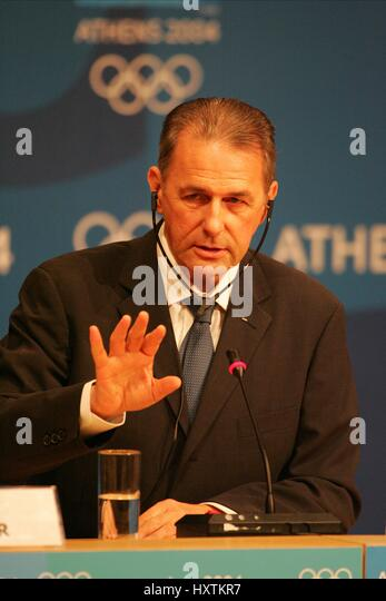 DR JACQUES ROGGE IOC PRESIDENT ATHENS GREECE 13 August 2004 - Stock Image
