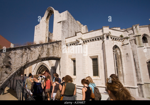 Portugal Lisbon Convento do Carmo - Stock Image
