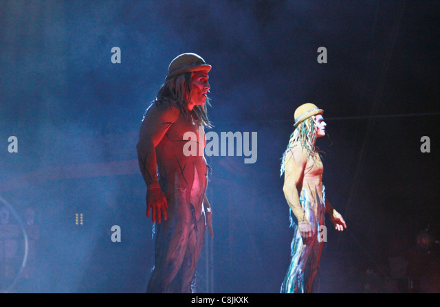 Premiere in Kuwait of the new Cirque du Soleil Show - Stock Image