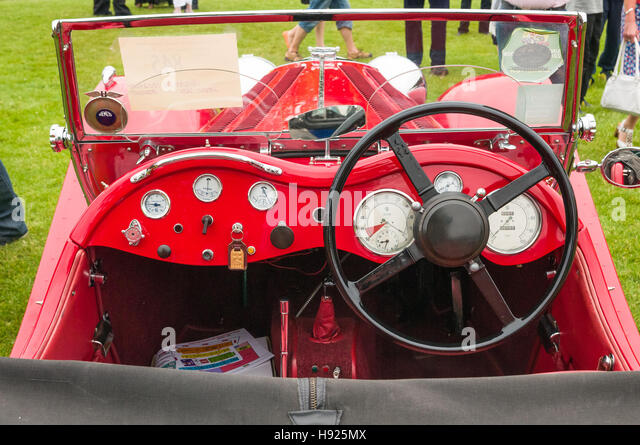 Vintage car show - jaguar ss 100 - Stock Image