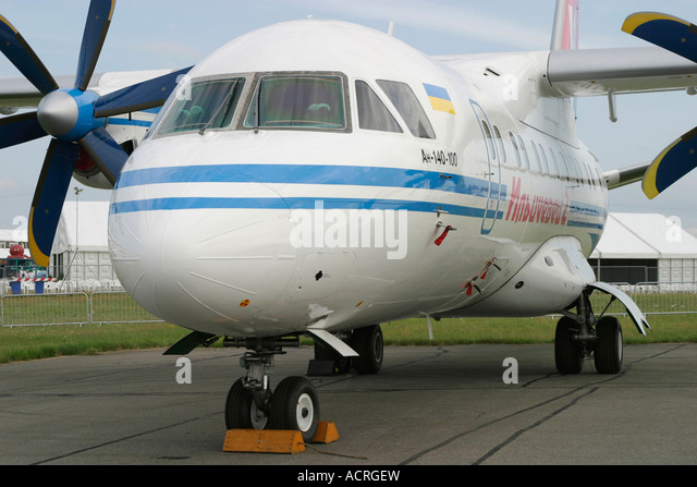 Short range turboprop airliner Antonov An-140 - Stock Image