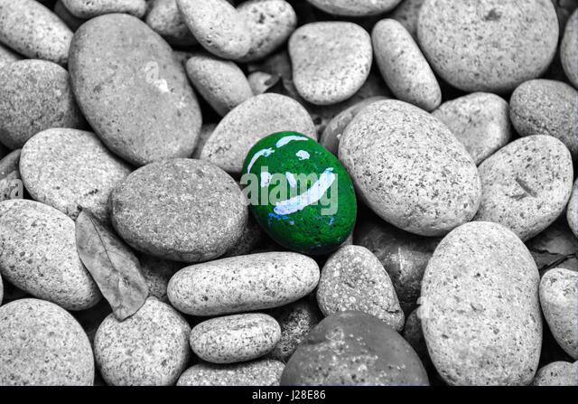 Happy Rock - Stock Image