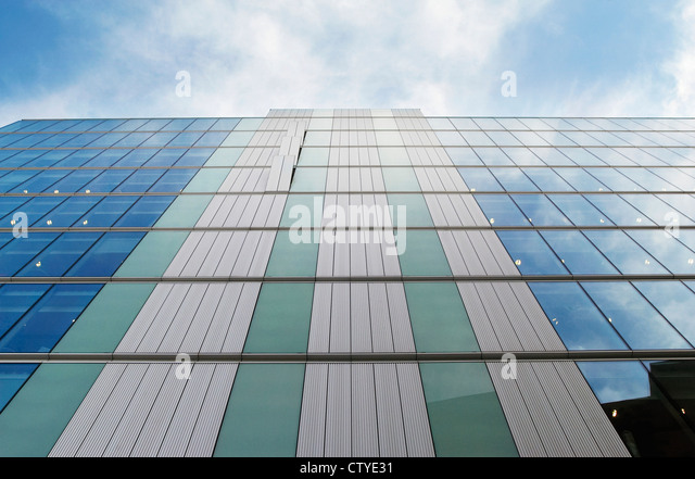 Architectural detail of a building's facade. - Stock Image