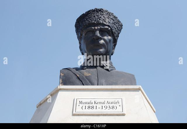 Statue of Mustafa Kemal Ataturk, Turkey - Stock Image