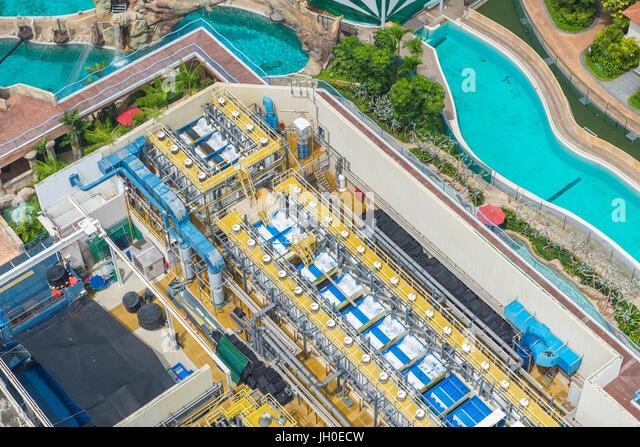Purification plants stock photos purification plants - Swimming pool water treatment plant ...