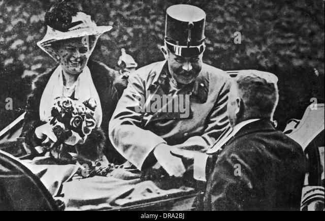 Archduke Franz Ferdinand and his wife Sophie - Stock Image