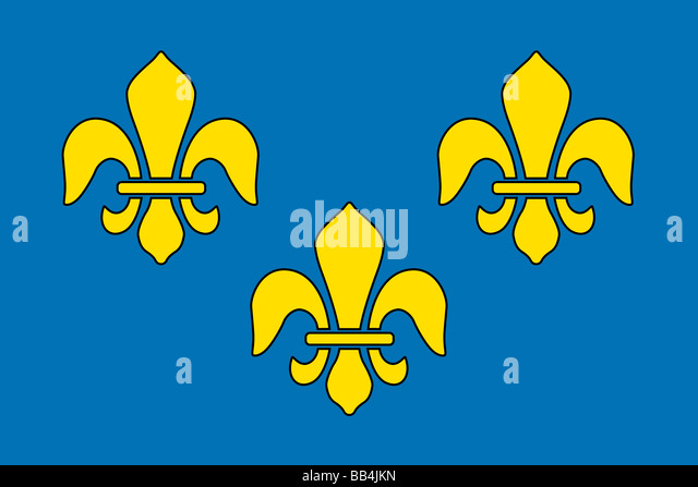 Historical flag of France, a country in Europe, from about 1370 to 1600. - Stock Image