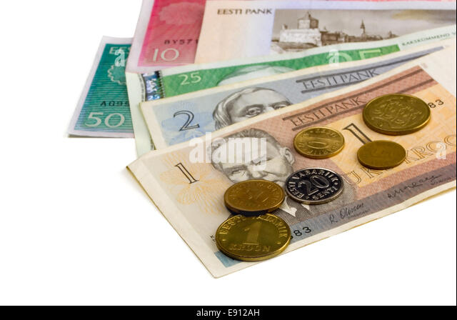 Estonian currency - Stock Image