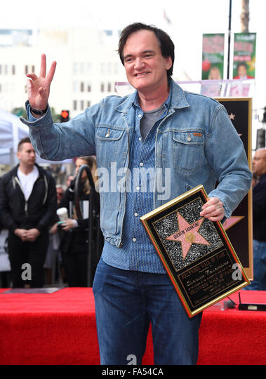 Hollywood, California, USA. 21st Dec, 2015. Quentin Tarantino as the Walk of Fame honors Quentin Tarantino on Hollywood - Stock Image