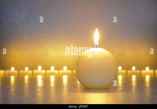 Stilllife, ZEN, détente, candles - Stock Image