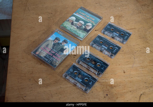 Audio adaptations of extremely long running tv sitcom Last of the Summer WIne - Stock Image