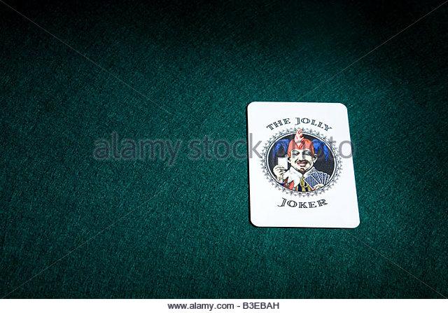 A joker playing card - Stock-Bilder