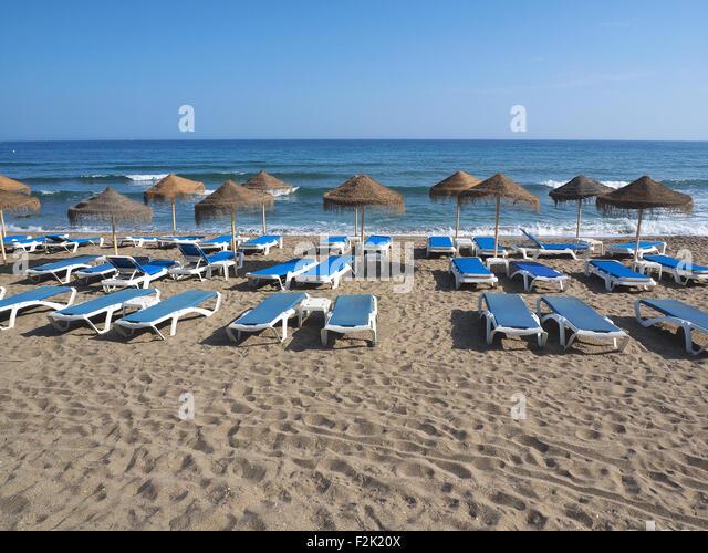 Spain Costa Del Sol Beach Travel Nobody Stock Photos & Spain Costa Del So...
