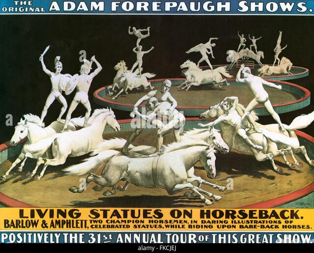 USA Adam Forepaugh Shows Poster - Stock Image