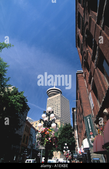 Vancouver Canada Gastown and Harbour Tower - Stock Image
