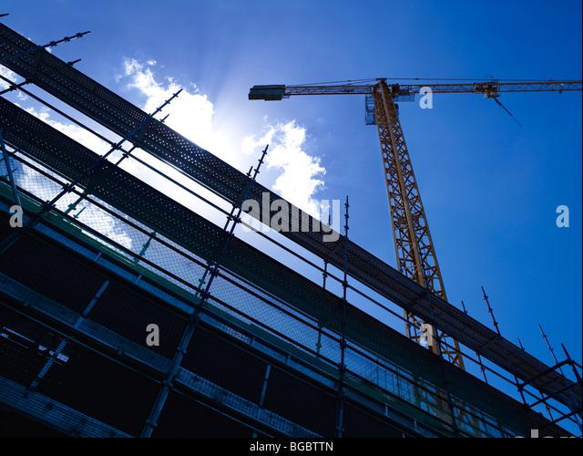 Tower Crane on construction site - Stock-Bilder