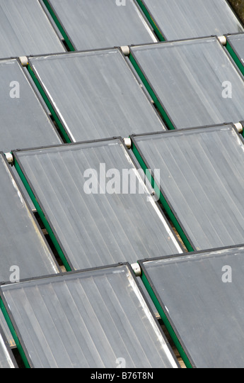 Solar water heaters - Stock Image
