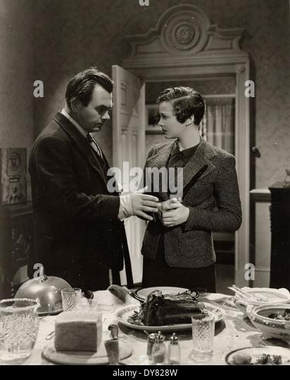 SABOTAGE aka 'A Woman Alone' - Sylvia Sidney, Oscar Homolka - Directed by Alfred Hitchcock - Gaumont British - Stock Image