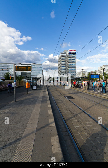 Everyday Life on Alexanderplatz in Berlin, Germany - Stock-Bilder