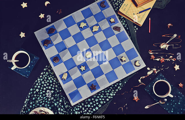 Space chess - Stock Image