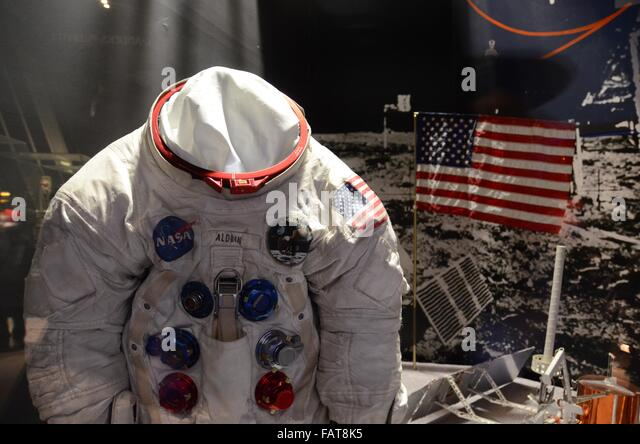 National Air and Space Museum buzz adlrin space suit - Stock Image