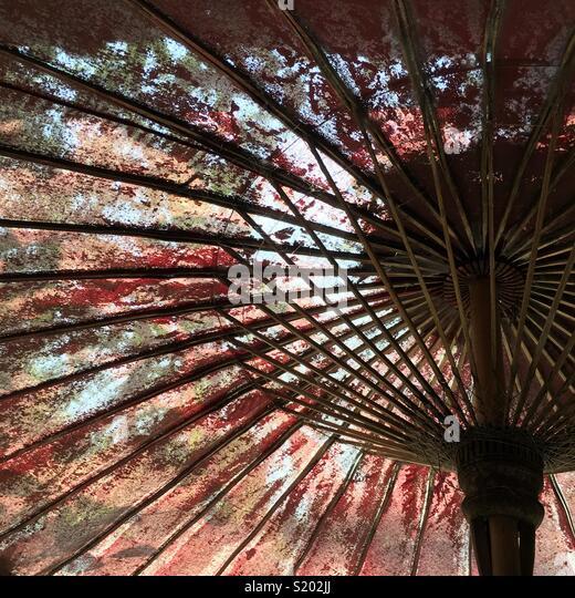 Old umbrella - Stock Image