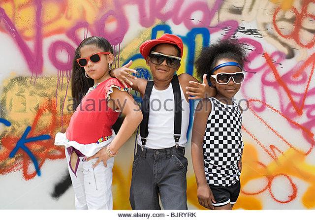 Cool kids - Stock-Bilder