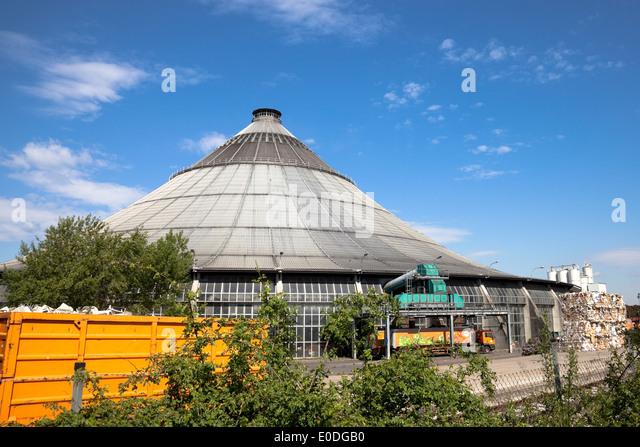 Rinterzelt, Müllaufbereitungs/Verbrennungsanlage, Wien, Österreich - Rinterzelt, Waste management facility, - Stock Image