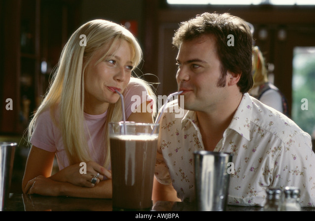 SHALLOW HAL 2001 Twentieth Century Fox film with Gwyneth Paltrow and Jack Black - Stock Image