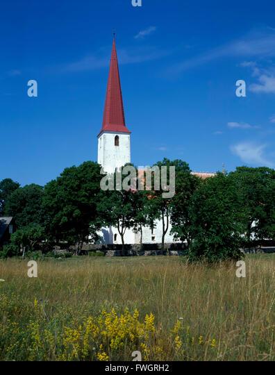church in Kihelkonna, Estonia, Europe - Stock-Bilder