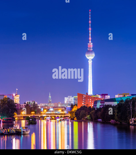 Berlin, Germany cityscape over the Spree. - Stock-Bilder