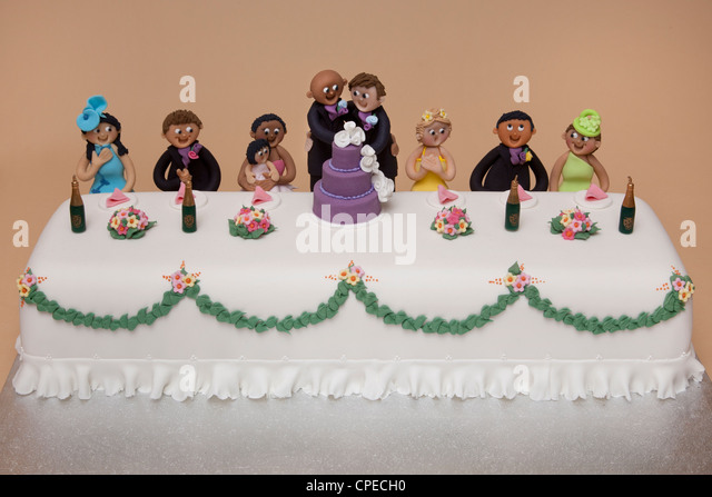 top table wedding cake of gay couples marriage - Stock-Bilder