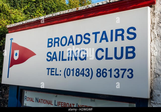 Broadstairs Sailing Club Sign Broadstairs Kent - Stock Image