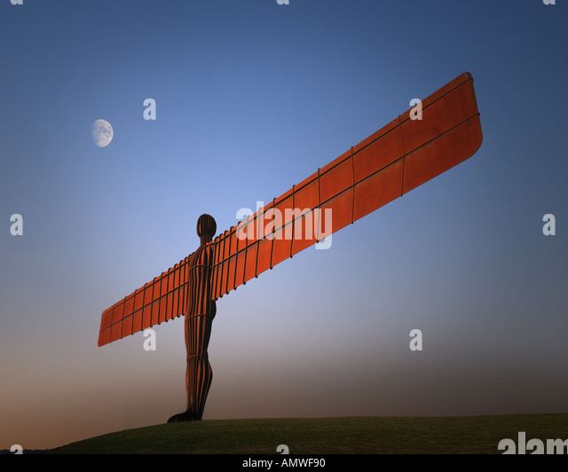 GB - TYNE AND WEAR: Angel of the North near Gateshead - Stock-Bilder