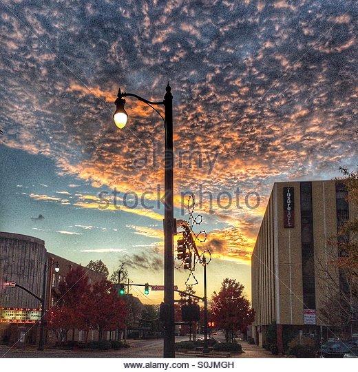 Tuscaloosa Dusk - Stock Image