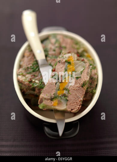 Beef terrine - Stock Image